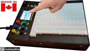 Powered Smart Breadboard With Touchscreen