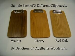 Clipboard Lot Sample Pack Of 3 Different Wooden Clipboards Check Presenter