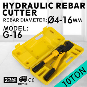 Hydraulic Rebar Cutter Concrete Construction Tool 4 16mm Wrench Handheld G 16