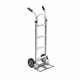 Aluminum Hand Truck Double Handle Mold on Rubber Wheels Lot Of 1