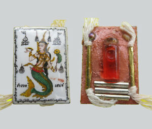 Lady Musaya Amulet Lp Chalerm Thai Occult Attraction Charm Luck Wealth Business