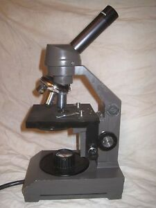 Vintage Swift 2240 Instruments Microscope 3 Objective 10 25 65 Science Lab