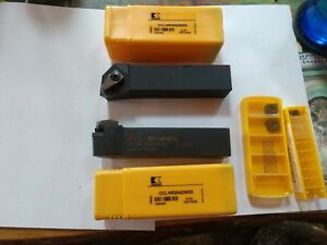 Kennametal Cclnr204dmx5 Lathe Tool Holders With 4 Inserts