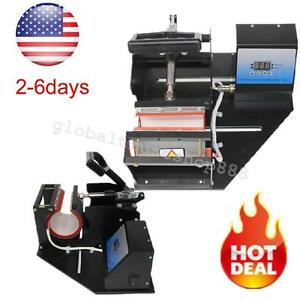 Dual Digital Heat Press Transfer Sublimation For Cup Coffee Mug Industry System