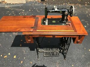 Antique Reliance Treadle Sewing Machine With Loads Of Accessories