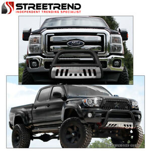 For 11 18 Ford Explorer Matte Blk Bull Bar Brush Push Bumper Grill Guard Ss Skid
