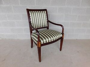 Hickory Chair Co Regency Style Mahogany Frame Arm Chair