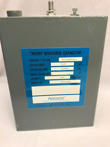 Aerovox Energy Discharge Capacitor 1 Uf 35kv Dc 613 Joules High Voltage Pulse