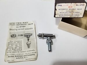 Bd B d 470v Modified Automatic Two way Double Valve At Shaped W Female Luer lok