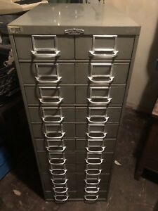 Vintage Remington Rand Industrial Metal 22 Drawer Library Card Catalog