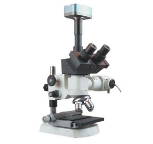 2000x Trinocular Top Light Microscope W Xy Stage 3mp Camera Measuring Software