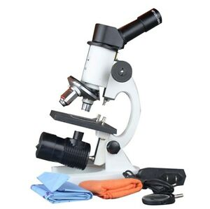 Biology School Science Compound Led Rechargable Cordless Inclined Microscope