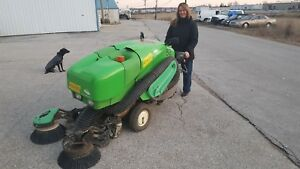 Tennant Green Machine Diesel Powered Ride On Sweeper With Free Shipping