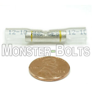 Nspa Opti seal Heat Shrink Sealed Butt Connectors Clear Yellow Stripe 16 14 Awg