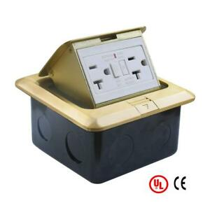 Ul Listed Pop Up Electrical Floor Outlet Cover Box 20 Amp 125v
