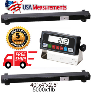 New 5000 Lb 40 Weigh Bar Animal Cage Scale Cattle Scale Usa Calibrated