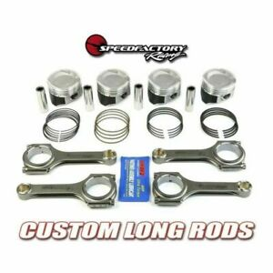 Speedfactory No notch D16 Long Rod Vitara Pistons Combo 75 5mm Bore 020 Turbo