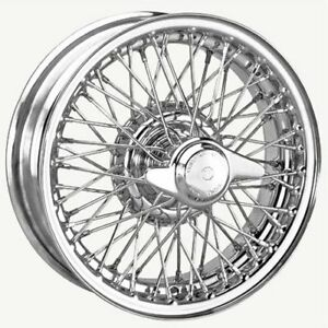 Coker Tire D456bctt 16x5 Dayton Wire 60 Spoke Chrome Requires Tube Fits Jaguar