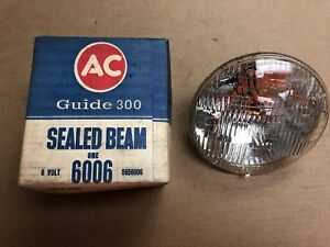 Nos Ac Guide 300 T3 Sealed Beam 6 Volt O e 1948 1955 Gm Others 5956006 6006