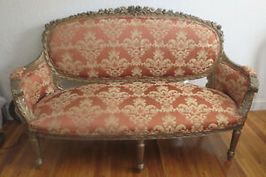 Antique Large 70 Louis Xvi Settee Sofa