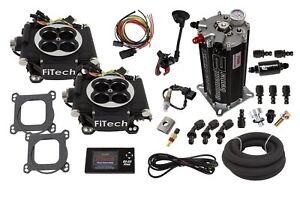 Fitech Fuel Injection 32262 Go Efi 2x4 Dual Quad Throttle Body System Master Kit