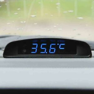 Auto Clock Thermometer Voltmeter Display Car Ornament Interior Digital Led Watch