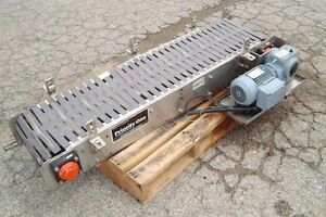 12 Inch X 48 Inch Priority One Slat Top Conveyor Stainless Steel