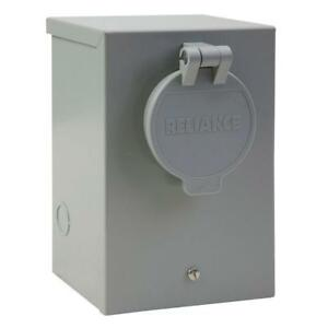 Reliance Controls 30 amp Power Inlet Box With Circuit Breaker Outdoor Rated