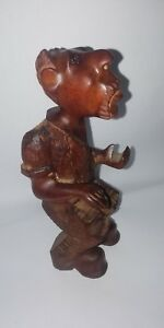 Wood Hand Carved Man Vintage African Statue Tribal Sculpture Statues Art Fig