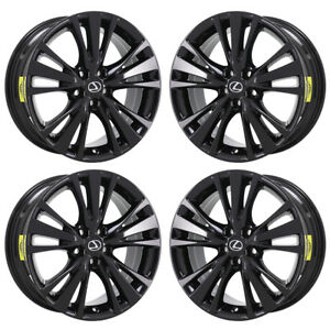 19 Lexus Rx350 Rx450 Black Wheels Rims Factory Oem Set 4 74301