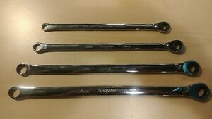 Snap On 4 Pc 12 Point Metric Combination Ratcheting Box Wrench Set Xdhrm604