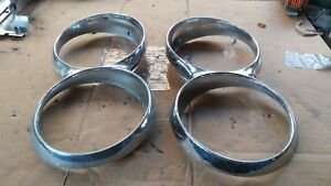 1965 64 Ford Thunderbird Head Light Chrome Bezals