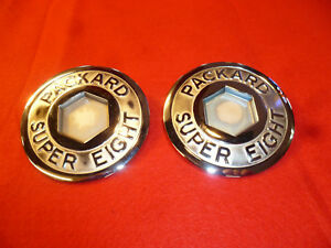 1933 39 Packard Super Eight Trunk Rack Emblems