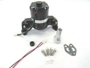 Aluminum Sbc 350 Chevy High Flow Electric Water Pump Black Bpk 1107bk
