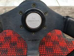 Very Rare Jdm Mugen Sw4 Leather Steering Wheel Ef9 Crx Dc2 Eg6 Eg9 Nsx