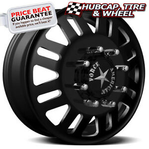 American Force Freedom 6 19 5 x6 75 Dually Custom Wheels Rims 8 Lugs Black