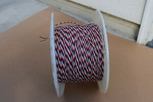 New twisted 1000 Teflon Silver Plate Wire 20awg Black White Red 3 Cond Guarante