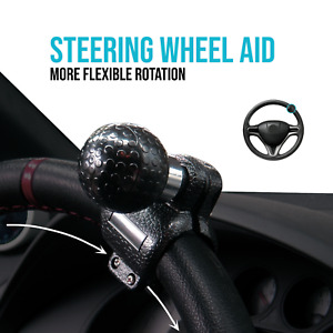 Car Steering Wheel Grip Aid Black Handle Power Assister Spinner Knob Universal