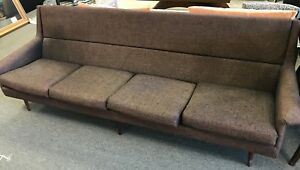 Thayer Coggin Mid Century Sofa Original Purple Tweed