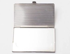 Genuine Silver Plated Business Card Holder