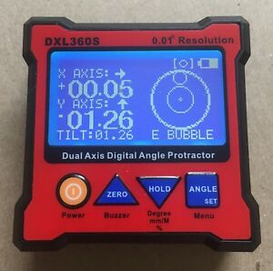 Dual Axis Digital Protractor Inclinometer Dxl360s Complete In Box
