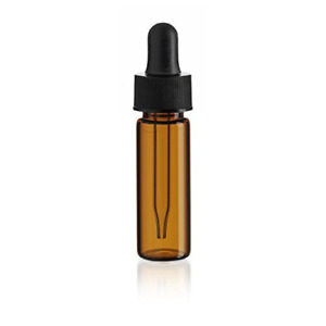 1 Dram Amber Glass Vial Dropper Pack Of 144
