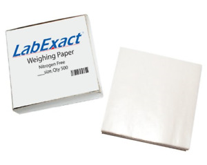 Labexact 1200160 W66 Cellulose Weighing Paper Sheet Nitrogen Free High gloss