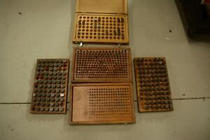 5 Used Assorted Pin Gage Box Lot Pin Gage Set M2 M6 M7 Lot Used Sets See Photos