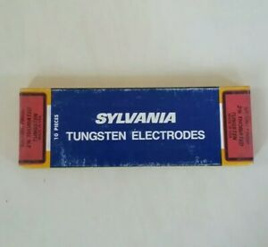 Sylvania Tig Welding Electrodes 2 Thoriated Tungsten Red 1 16 Made In Usa 10pk