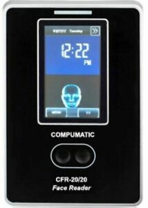 Compumatic Biometric Face Reader Facial Recognition Time Clock System Cfr 20 20