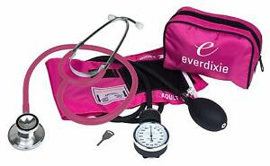 Stethoscope And Manual Adult Blood Pressure Cuff Kit Sphygmomanometer Brand New