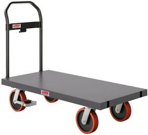 Platform Truck Cart Moving Dolly Push Warehouse Storage Collapsible 1000 Lbs