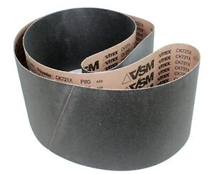 Vsm Abrasive Belt 35324 Silicon Carbide 8 X 107 80 Grit Pkg Qty 10