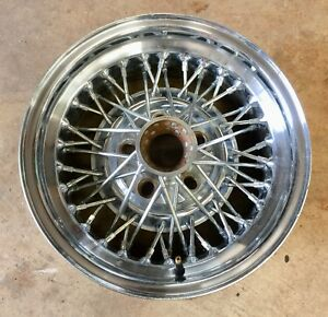 Vintage Cragar 15x7 Wire Wheel Single Hot Rod Old School Chevy Ford J15415
